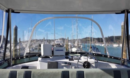 flybridge clear covers and upholstery northland
