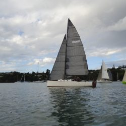 """""""Intrigue""""  with a full suite of UK Sailmakers Tape-Drive sails."""