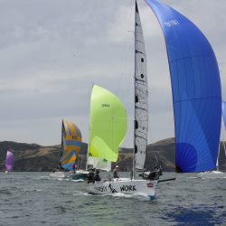 """New Spinnaker on """"Thirsty Work"""" for Bay Week"""