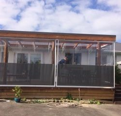 Deck Roll Up Awnings